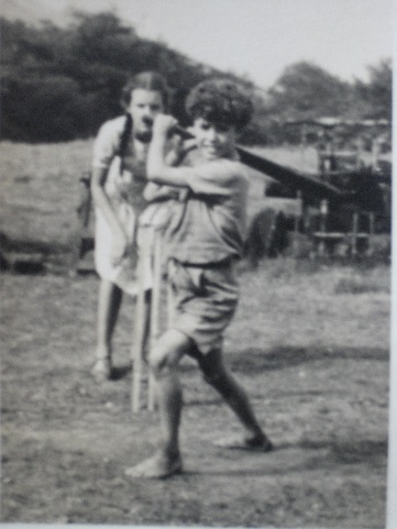 batting barefoot
