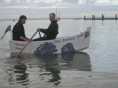 dan in boat