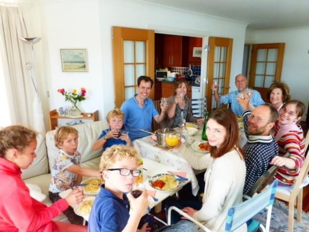 family dinner arethusa house